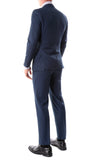 Oslo Navy Slim Fit Notch Lapel 2 Piece Suit - FHYINC