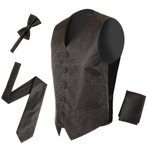 Cow Royal Necktie with Handkerchief Set