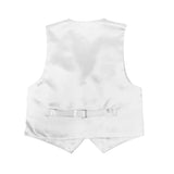 Premium Boys White Solid Vest 600