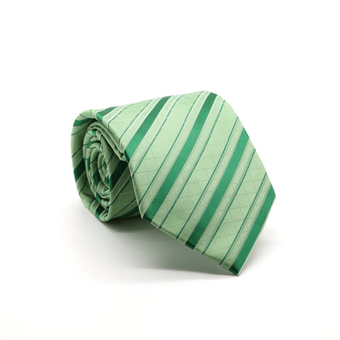 Ferrecci Mens Striped Pattern Necktie with Handkerchief Set