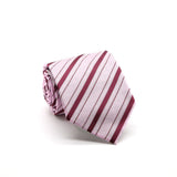 Ferrecci Mens Pink/Fuchsia Striped Pattern Necktie with Handkerchief Set - FHYINC best men's suits, tuxedos, formal men's wear wholesale