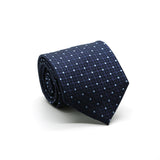 Ferrecci Mens Navy Geometric Necktie with Handkerchief Set - FHYINC best men's suits, tuxedos, formal men's wear wholesale