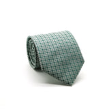 Ferrecci Mens Green Geometric Necktie with Handkerchief Set - FHYINC best men's suits, tuxedos, formal men's wear wholesale