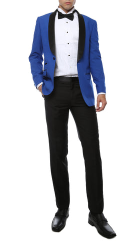The Reno Mens Royal Blue Shawl Collar 2pc Tuxedo