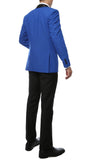 The Reno Mens Royal Blue Shawl Collar 2pc Tuxedo - FHYINC