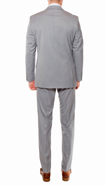Ferrecci Mens Savannah Light Grey Slim Fit 3pc Suit - FHYINC best men's suits, tuxedos, formal men's wear wholesale