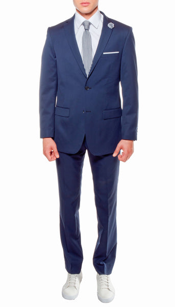 Ferrecci Mens Savannah Navy Slim Fit 3pc Suit - FHYINC best men's suits, tuxedos, formal men's wear wholesale