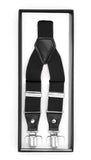 Black Clip-On Unisex Suspenders - FHYINC best men's suits, tuxedos, formal men's wear wholesale