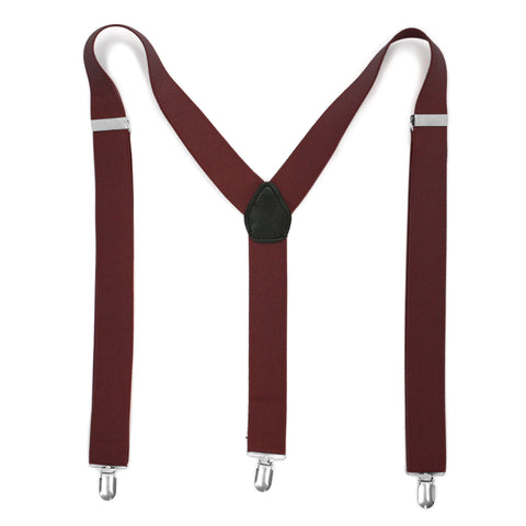 Red & White Zebra Unisex Clip On Suspenders