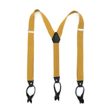 Gold Unisex Button End Suspenders - FHYINC best men's suits, tuxedos, formal men's wear wholesale