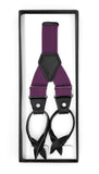 Purple Unisex Button End Suspenders