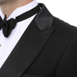 Premium Regular Fit Black Tail Tuxedo - FHYINC best men's suits, tuxedos, formal men's wear wholesale
