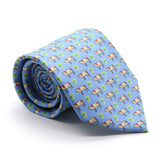 Cow Blue Necktie with Handkerchief Set - FHYINC best men's suits, tuxedos, formal men's wear wholesale