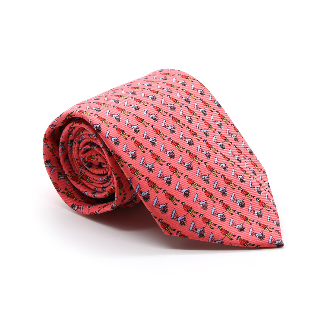 Carriage Driver Pink Necktie with Handkerchief Set - FHYINC best men