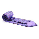 Carriage Driver Purple Necktie with Handkerchief Set - FHYINC best men's suits, tuxedos, formal men's wear wholesale