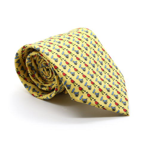 Carriage Driver Yellow Necktie with Handkerchief Set