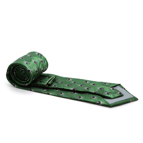 Cow Green Necktie with Handkerchief Set