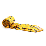 Cow Yellow Necktie with Handkerchief Set - FHYINC best men's suits, tuxedos, formal men's wear wholesale