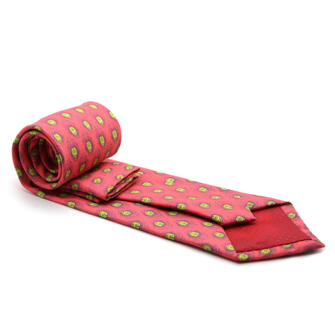 Feather Pink Necktie with Handkerchief Set