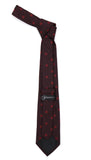 Burgundy Geometric Necktie with Handkerchief Set - FHYINC best men's suits, tuxedos, formal men's wear wholesale
