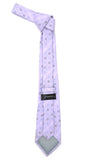 Lavender Geometric Necktie with Handkerchief Set - FHYINC best men's suits, tuxedos, formal men's wear wholesale