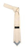 Beige Geometric Necktie with Handkerchief Set - FHYINC best men's suits, tuxedos, formal men's wear wholesale