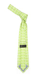 Floral Lime Green Necktie with Handkderchief Set - FHYINC best men's suits, tuxedos, formal men's wear wholesale