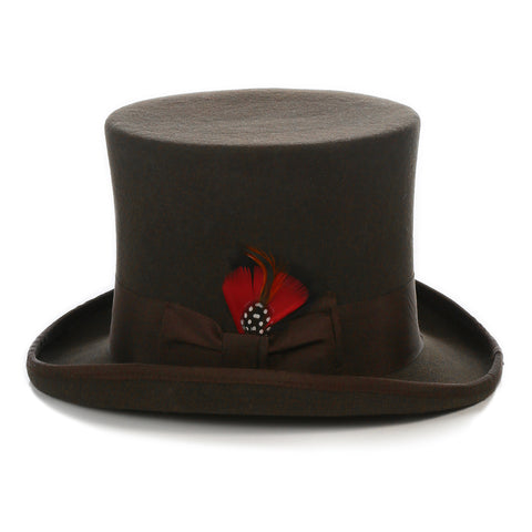 Premium Wool Brown Top Hat