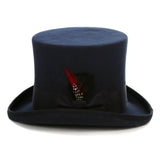 Premium Wool Navy Top Hat - FHYINC best men's suits, tuxedos, formal men's wear wholesale