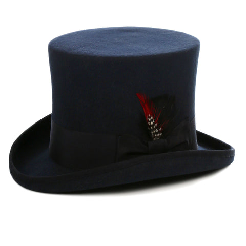 Premium Wool Navy Top Hat