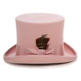 Premium Wool Pink Top Hat - FHYINC best men's suits, tuxedos, formal men's wear wholesale