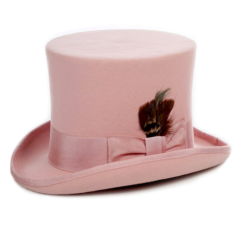 Premium Wool Pink Top Hat