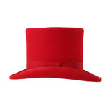 Premium Wool Red Top Hat - FHYINC best men's suits, tuxedos, formal men's wear wholesale