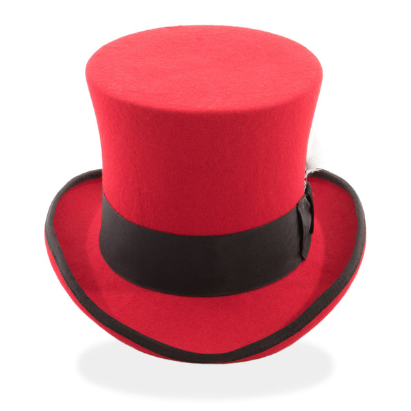 381771109c9 The Ferrecci Premium Classic Red Black Wool Top Hat – FHYINC
