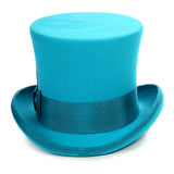 Premium Wool Turquoise Top Hat - FHYINC best men's suits, tuxedos, formal men's wear wholesale