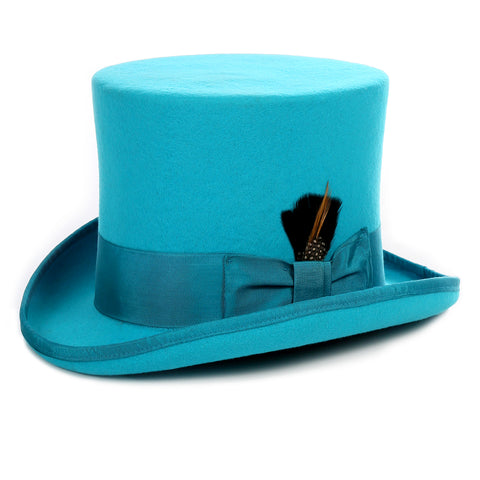Premium Wool Turquoise Top Hat