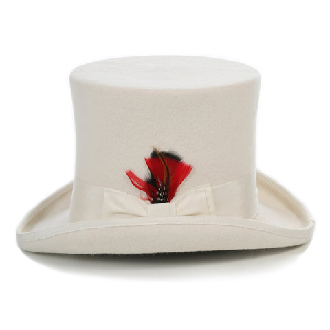 Premium Wool Off White Top Hat