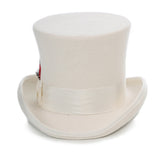 Premium Wool Off White Top Hat - FHYINC best men's suits, tuxedos, formal men's wear wholesale