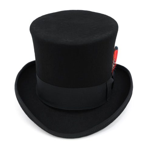 Black Wool Felt Victorian Top hat