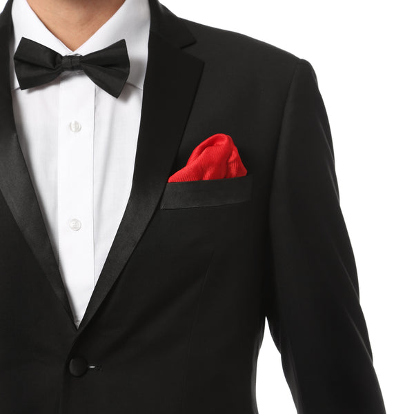 Ferrecci Mens Black Regular Fit Tuxedo 2pc Suit