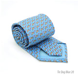 Dog Provence Blue Necktie with Handkerchief Set - FHYINC best men's suits, tuxedos, formal men's wear wholesale