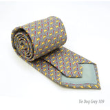 Dog Grey Necktie with Handkerchief Set - FHYINC best men's suits, tuxedos, formal men's wear wholesale