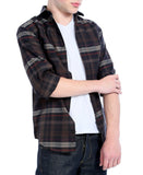 Brown Plaid Slim Fit Casual Shirt - Vale - FHYINC best men's suits, tuxedos, formal men's wear wholesale