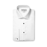 Ferrecci Men's Venice Slim Fit Pique Lay Down Collar Shirt - FHYINC best men's suits, tuxedos, formal men's wear wholesale