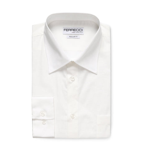 Ferrecci Virgo White Regular Fit Dress Shirt