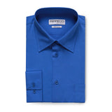 Ferrecci Virgo Royal Blue Regular Fit Dress Shirt - FHYINC best men's suits, tuxedos, formal men's wear wholesale