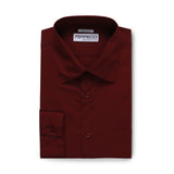 Ferrecci Virgo Burgundy Regular Fit Dress Shirt - FHYINC best men's suits, tuxedos, formal men's wear wholesale
