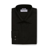 Ferrecci Virgo Black Regular Fit Dress Shirt - FHYINC best men's suits, tuxedos, formal men's wear wholesale