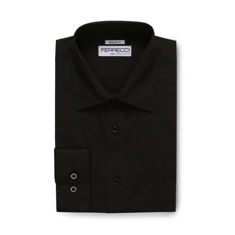 Ferrecci Virgo Black Regular Fit Dress Shirt