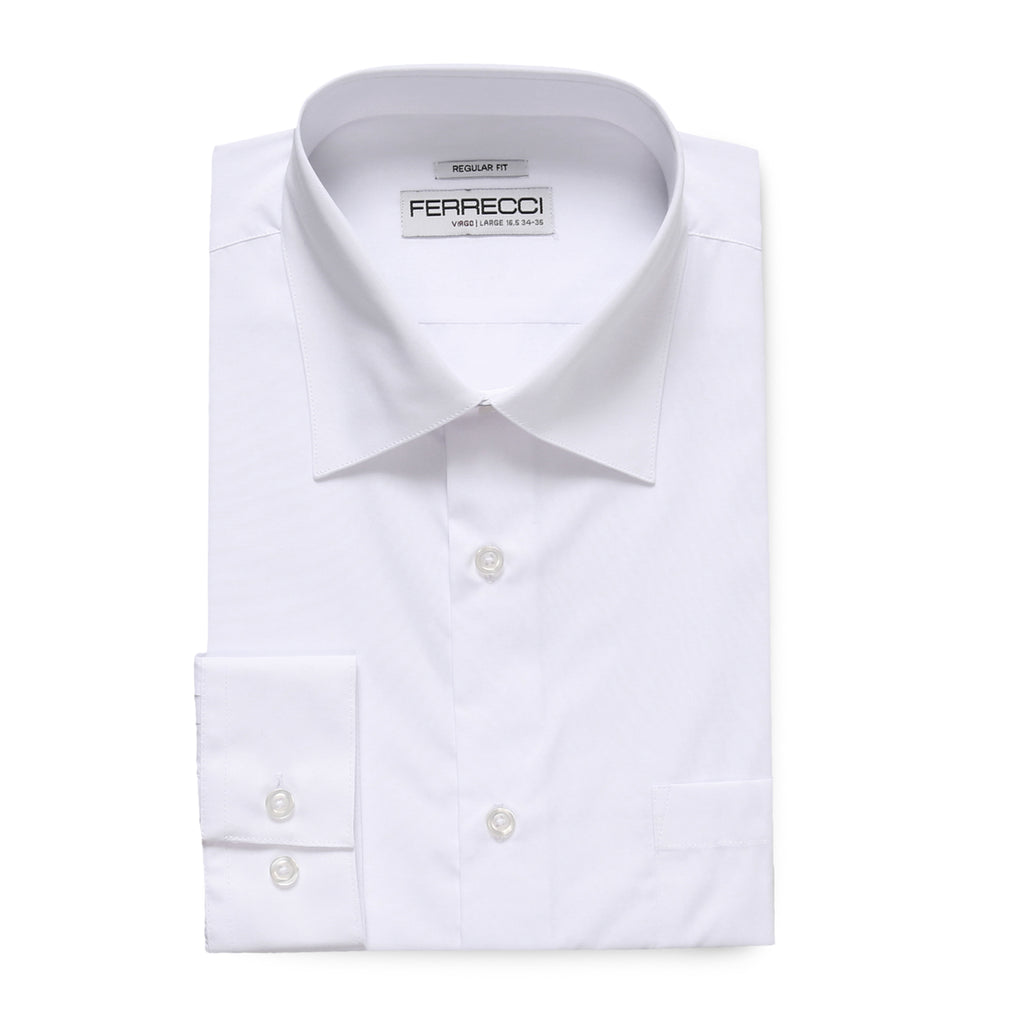 Ferrecci Virgo Snow White Regular Fit Dress Shirt - FHYINC best men
